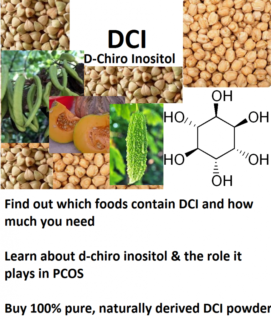 Find out what foods contain DCI, learn about DCI and the role it plays in PCOS and buy 100% pure, naturally derived DCI powder