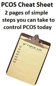 PCOS Plan of Attack Checklist 2 pages of simple steps you can take to control PCOS today